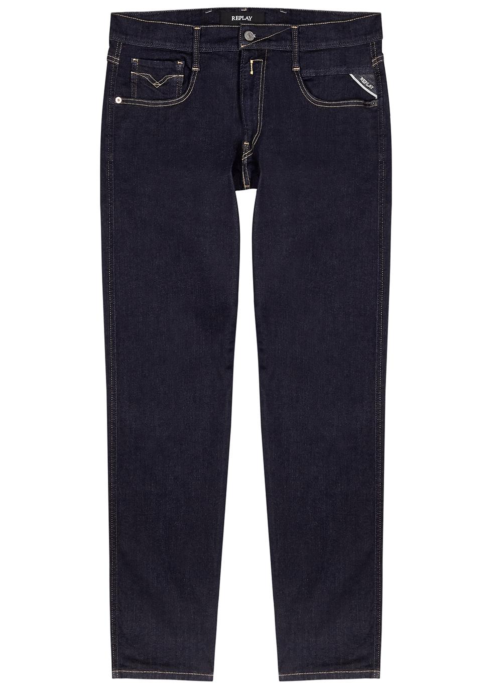 Anbass Hyperflex indigo slim-leg jeans