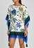 Floral-print cotton-blend kaftan - Tory Burch
