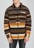 Explorer striped wool-blend fleece jacket - Pleasures
