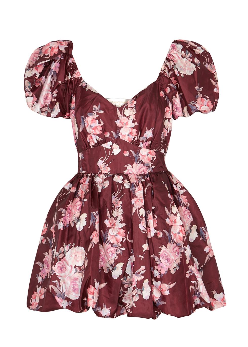 Hansel floral-print taffeta mini dress
