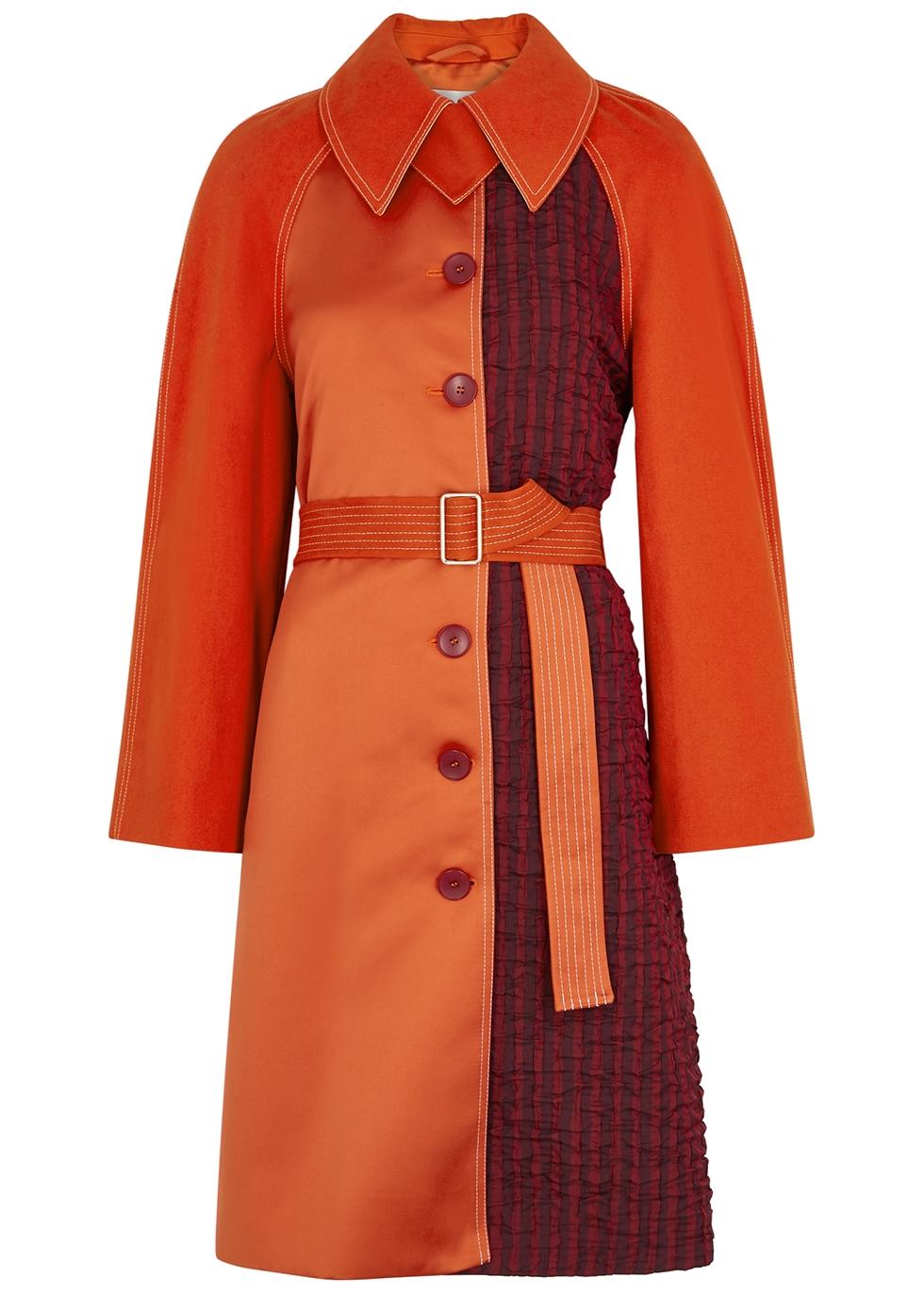 Harrison orange panelled coat