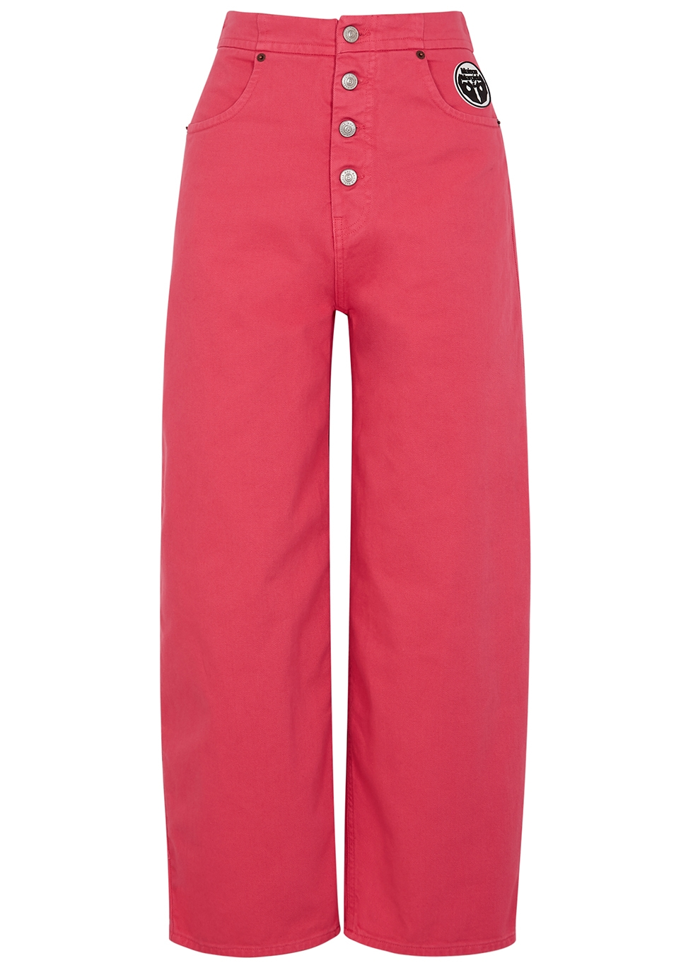 Pink wide-leg jeans