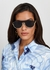 Gold-tone Medusa-embellished sunglasses - Versace