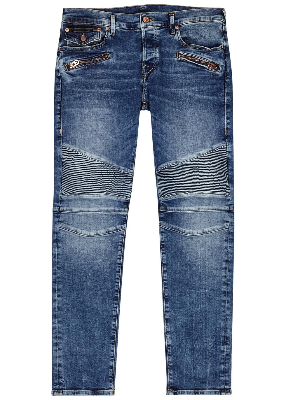 Rocco blue skinny biker jeans