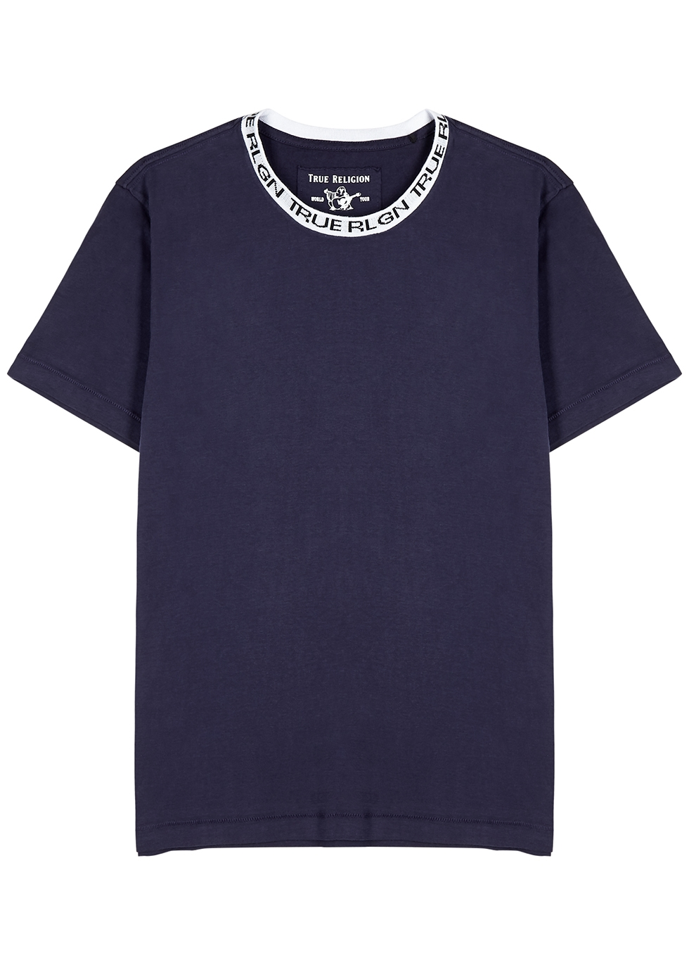 Navy logo cotton T-shirt