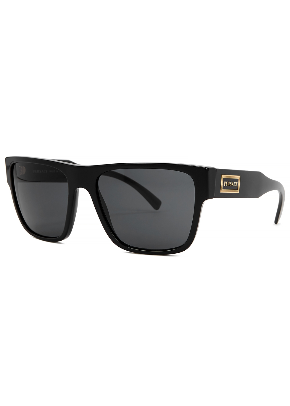 Black wayfarer-style sunglasses