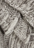 Brown mélange cashmere cape - Jil Sander