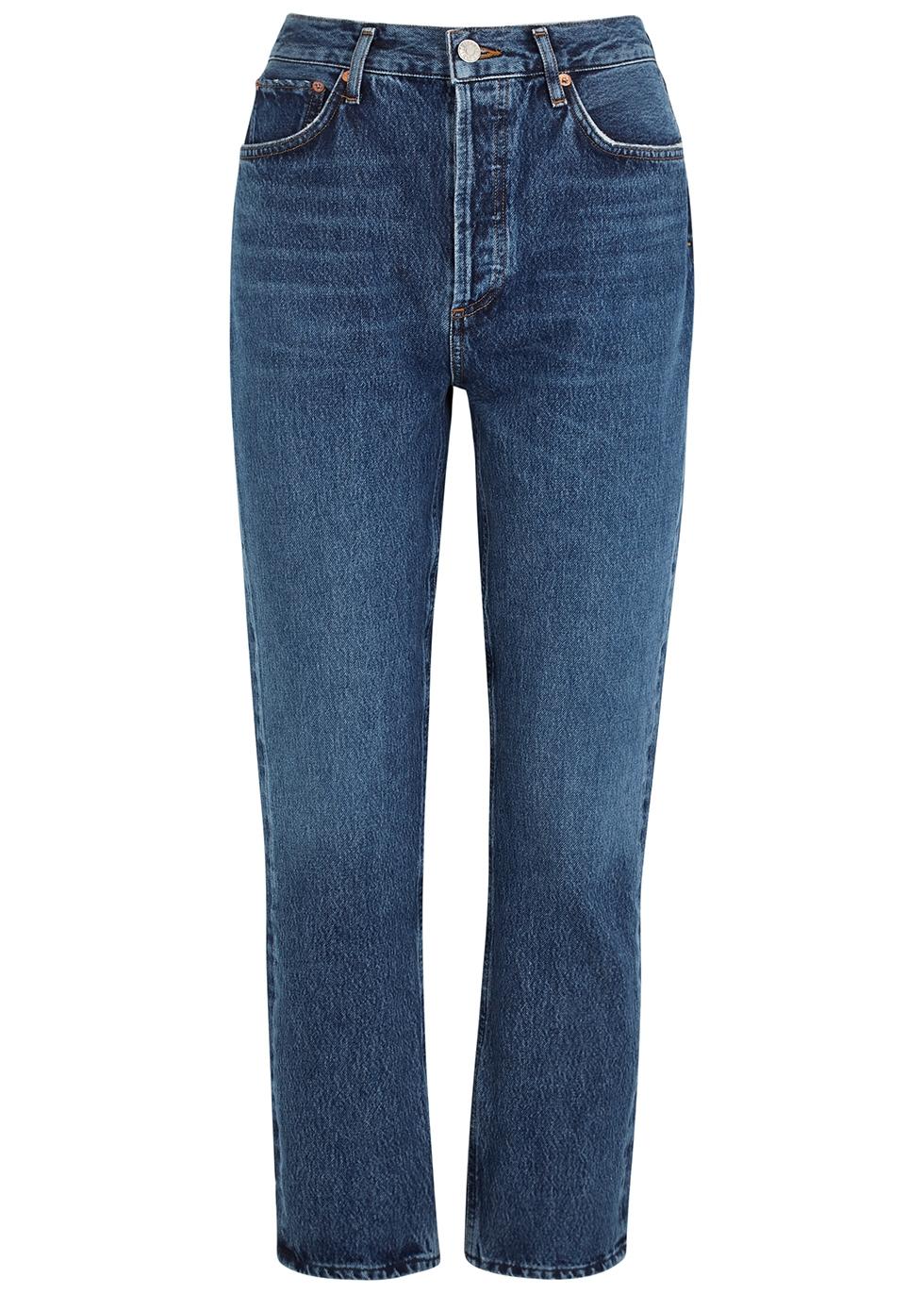 Riley blue straight-leg jeans