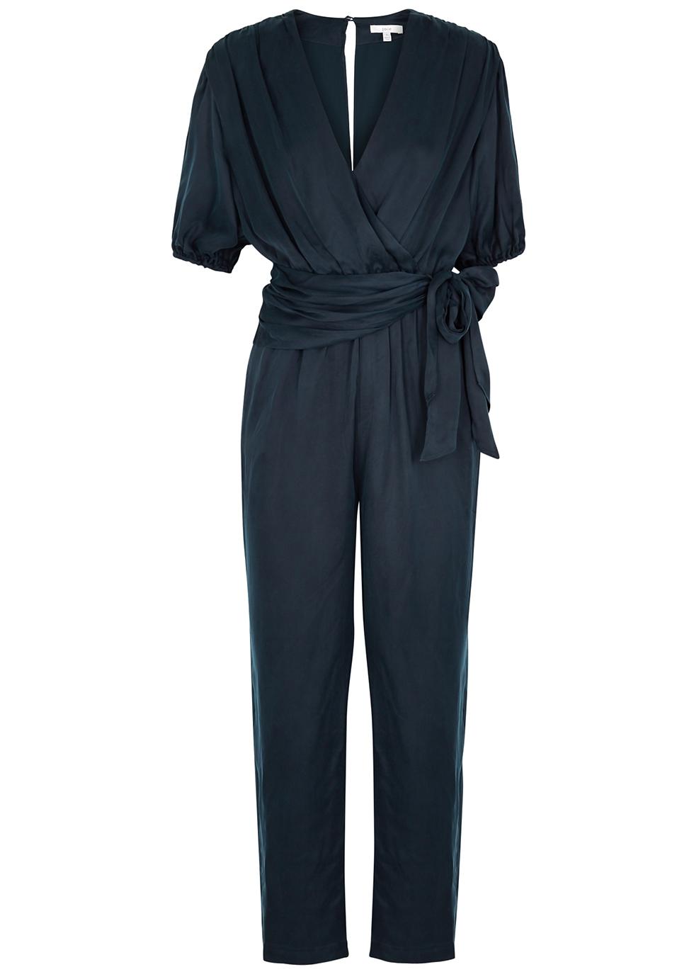 Adalie navy cupro jumpsuit