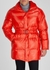 Red quilted shell coat - Rains