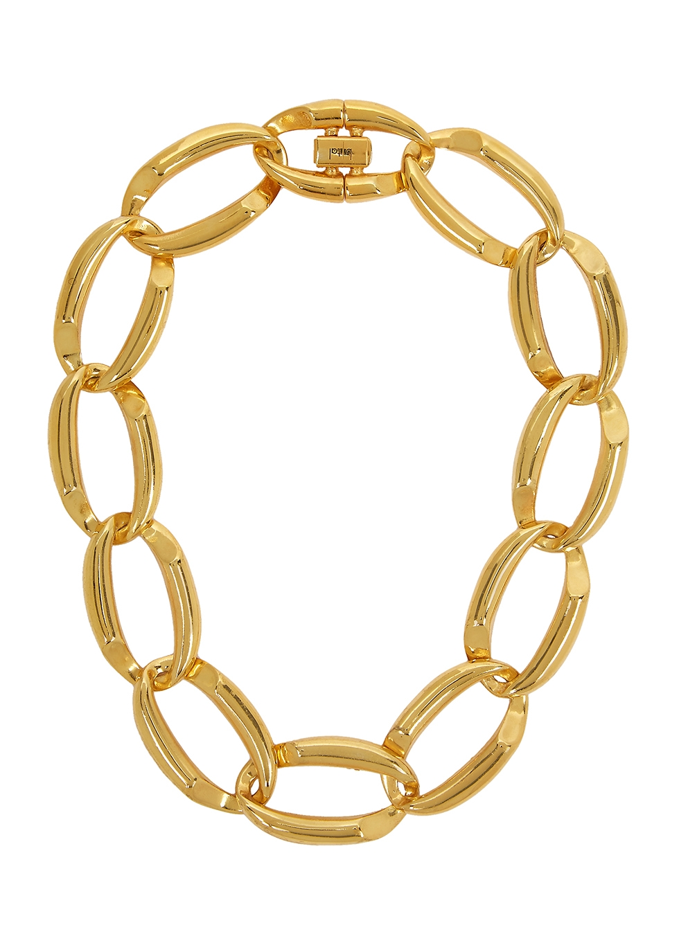 Gold-plated chain choker