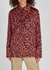 Navy cherry-print satin shirt - Victoria, Victoria Beckham