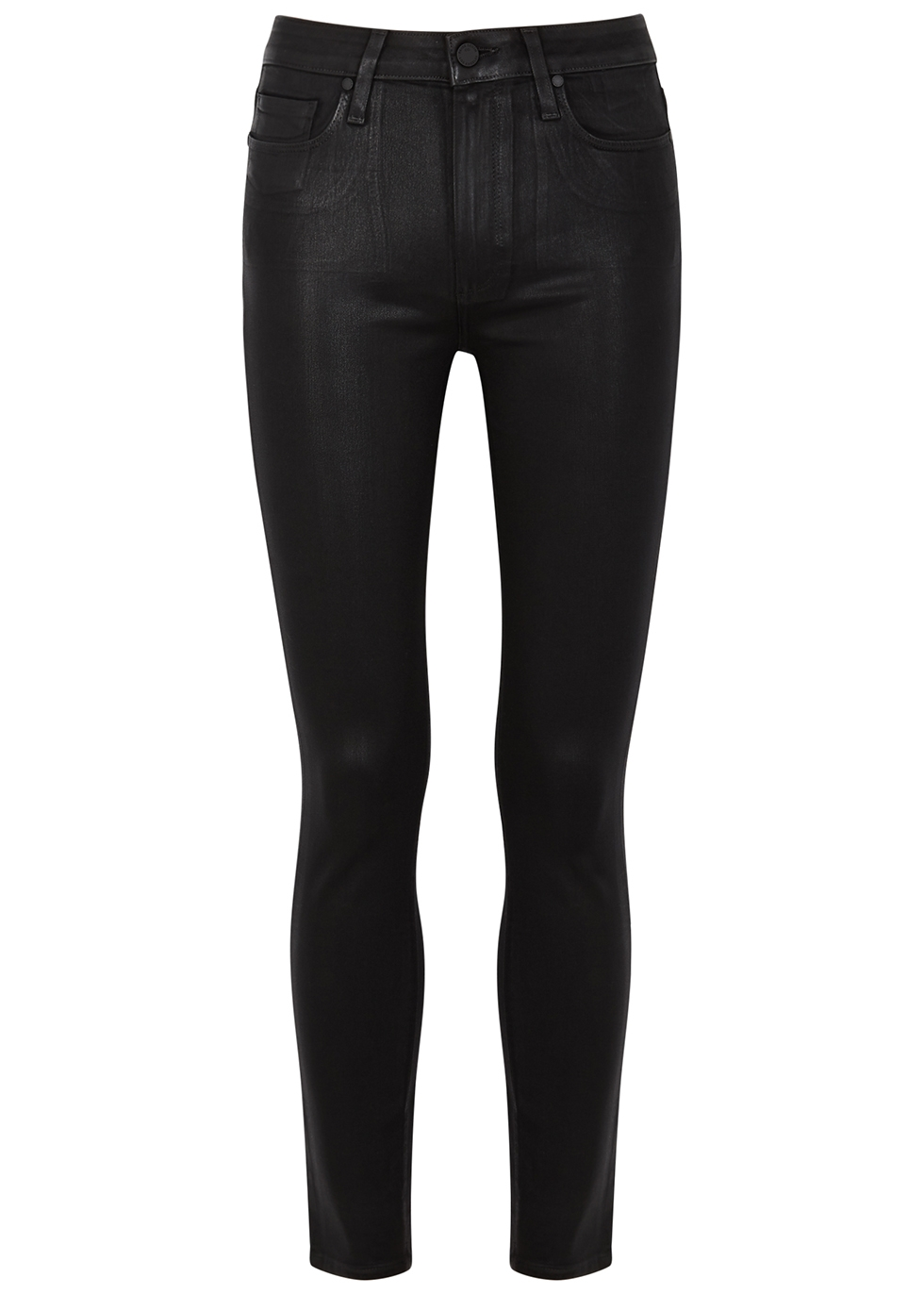 Hoxton Ankle black coated skinny jeans