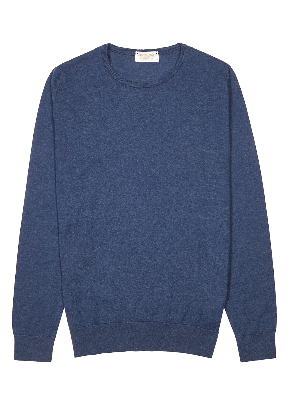 Theon navy cotton-blend jumper