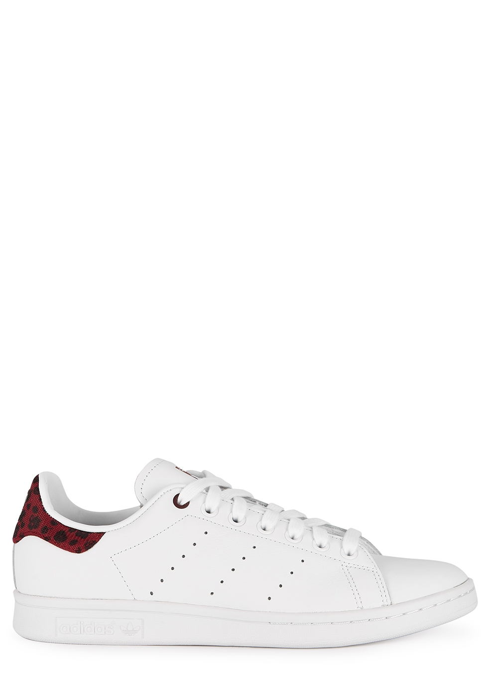 adidas Originals Stan Smith white and plum leather sneakers