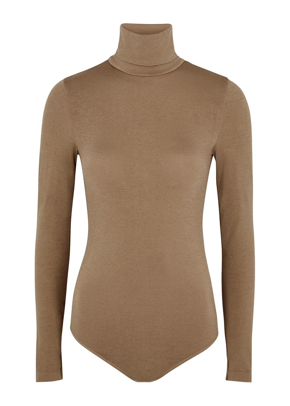 Colorado brown cotton-blend bodysuit