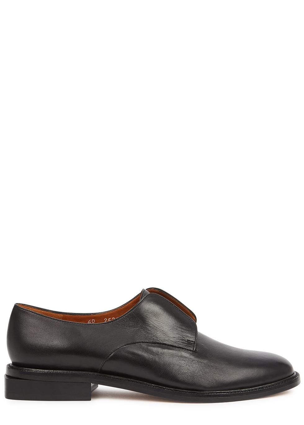 Rayane 25 black leather loafers