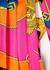 Printed pleated silk mini skirt - Versace