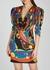 Printed mini dress - Versace