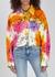 Tie-dyed stretch-denim jacket - Versace