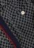 Navy logo-jacquard jersey trousers - Gucci