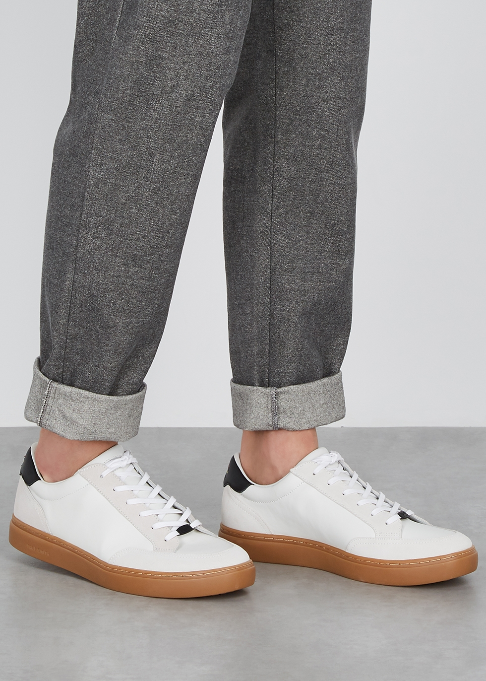 PS by Paul Smith Troy white leather and