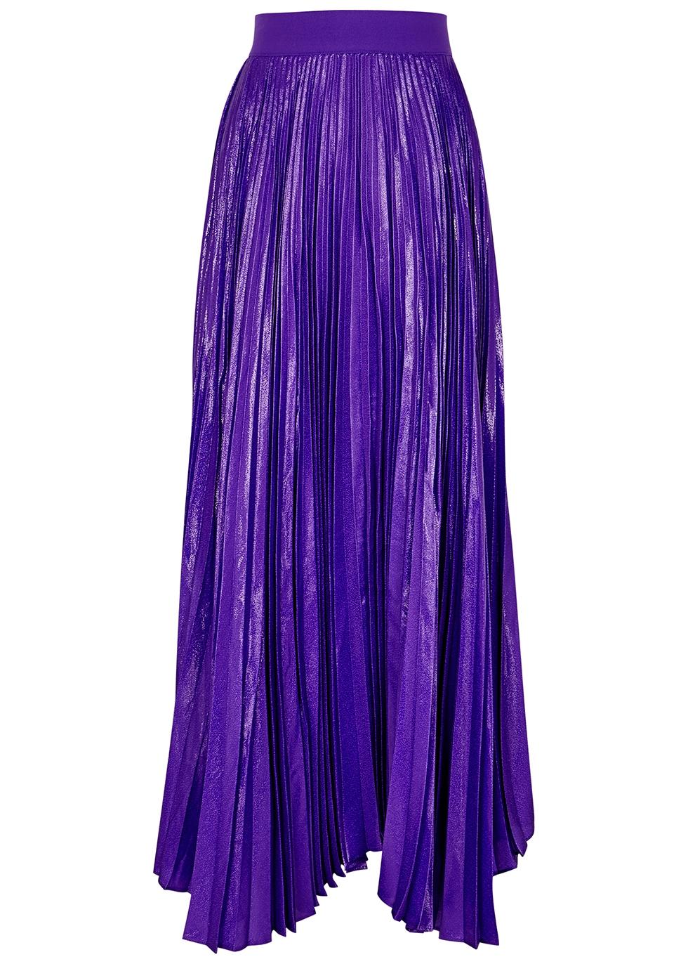 Katz purple silk-blend maxi skirt