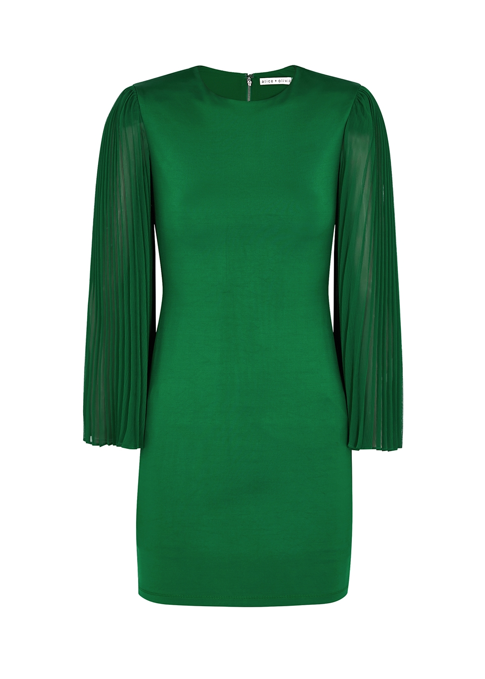 Zaya green stretch-jersey mini dress
