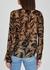 Jojie printed silk-chiffon blouse - Paige