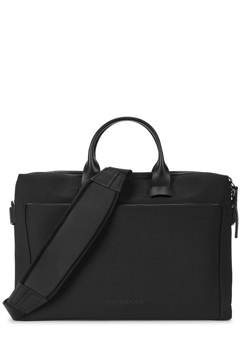 Pathfinder black canvas briefcase