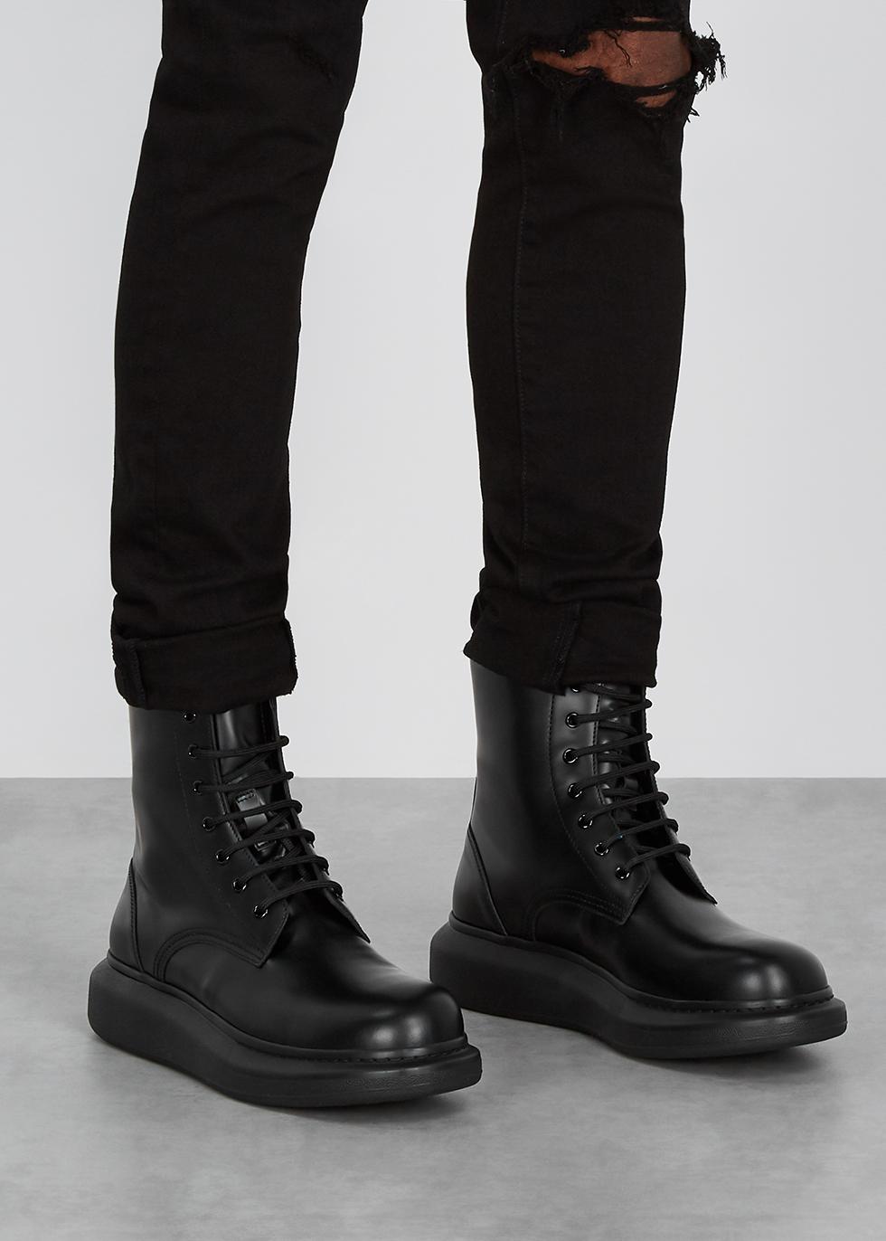 alexander mcqueen black boots