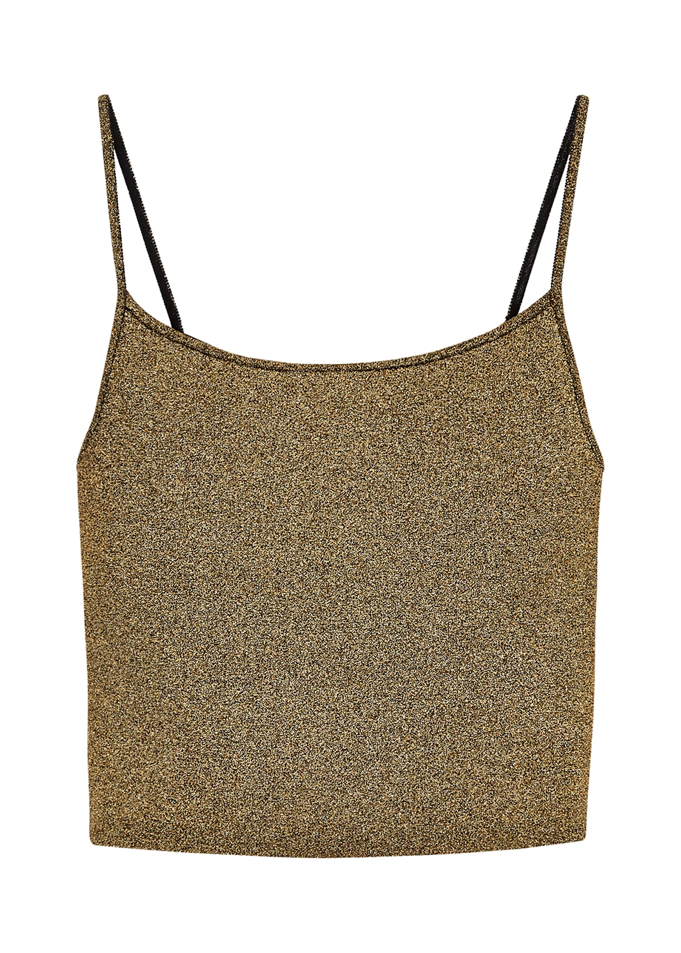 Rosie gold metallic-knit top