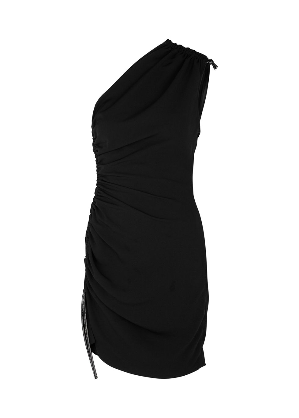 Rogers black one-shoulder mini dress