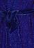 Gabrielle blue sequin mini wrap dress - Retrofête
