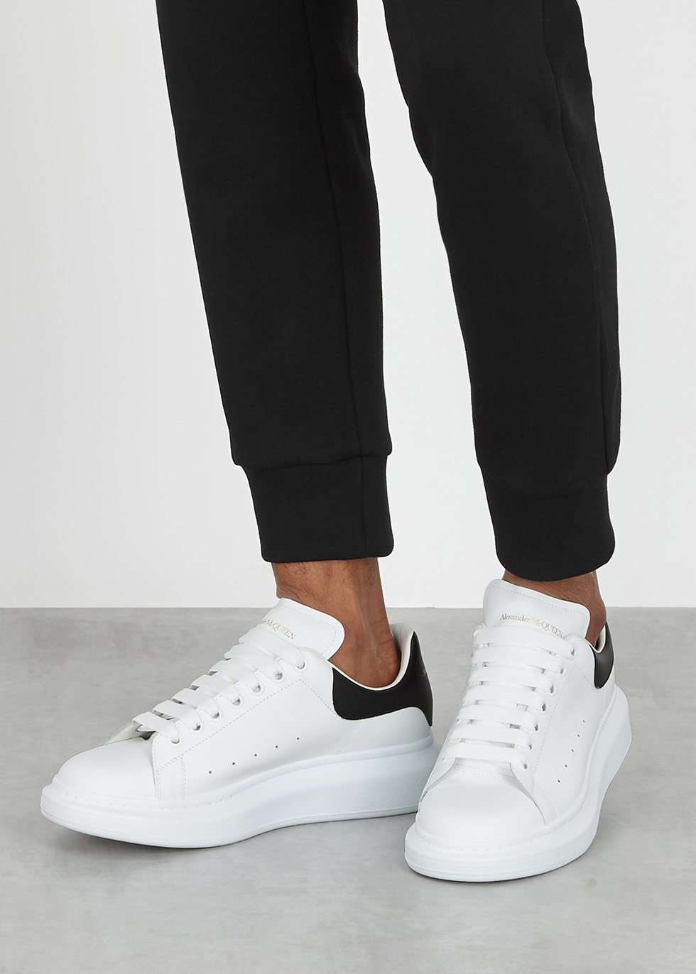 Alexander McQueen Larry white leather
