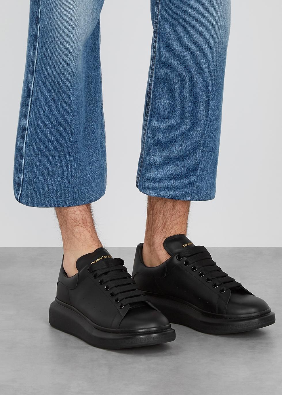Alexander McQueen Larry black leather