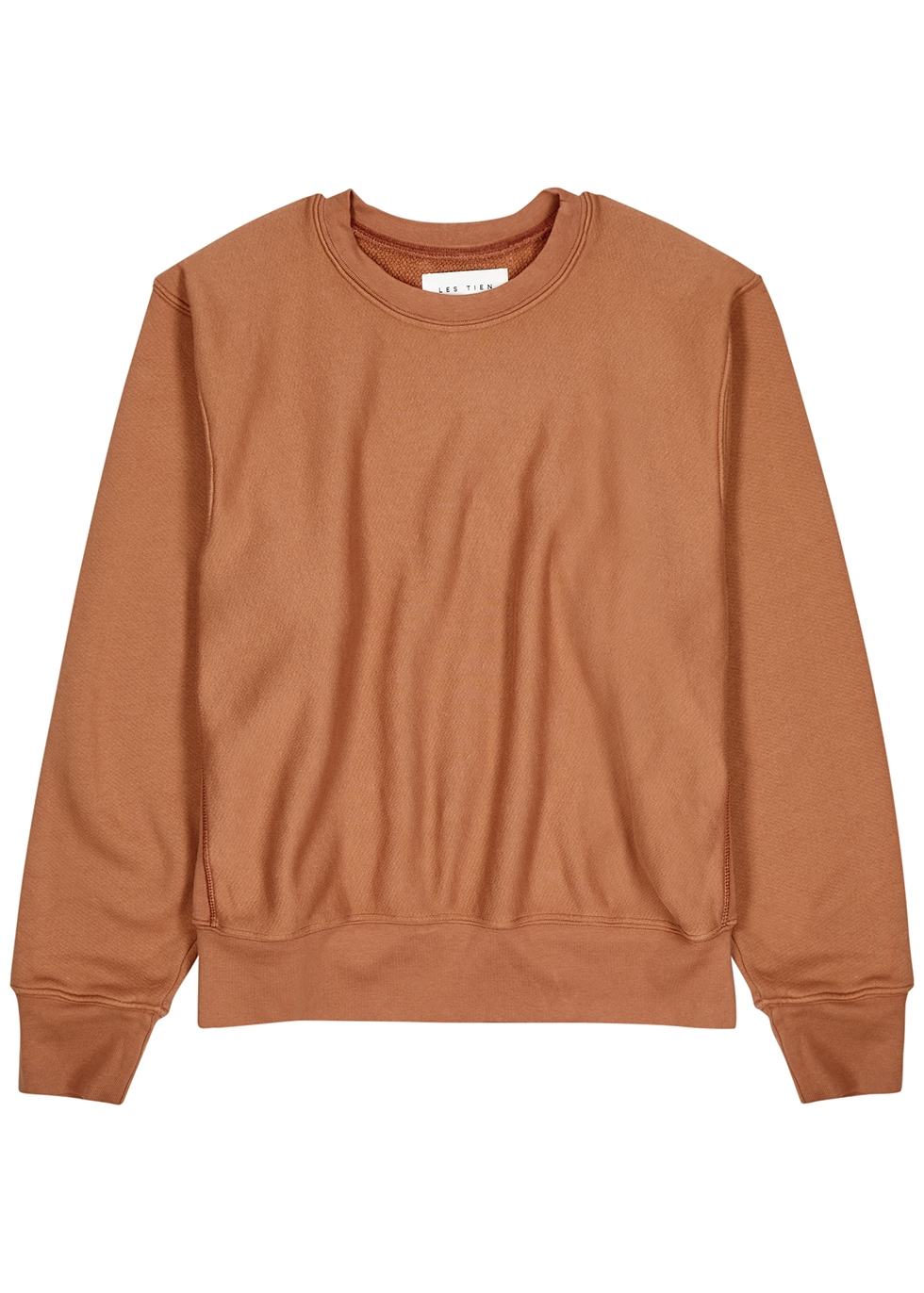 Rust cotton-jersey sweatshirt