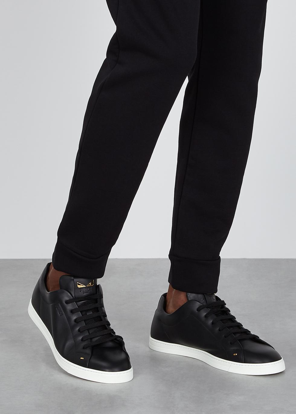 Fendi Black leather sneakers - Harvey