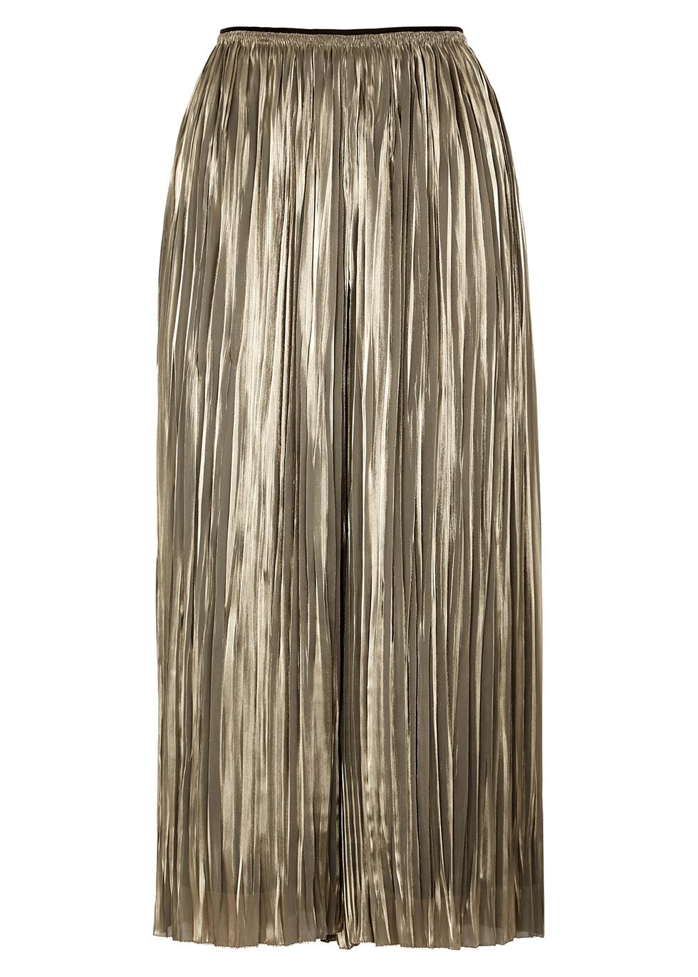 Silver plissé culottes