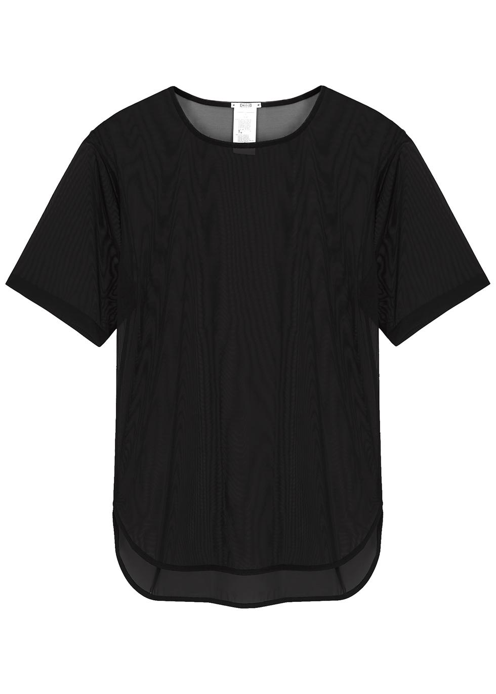 Black sheer tulle T-shirt