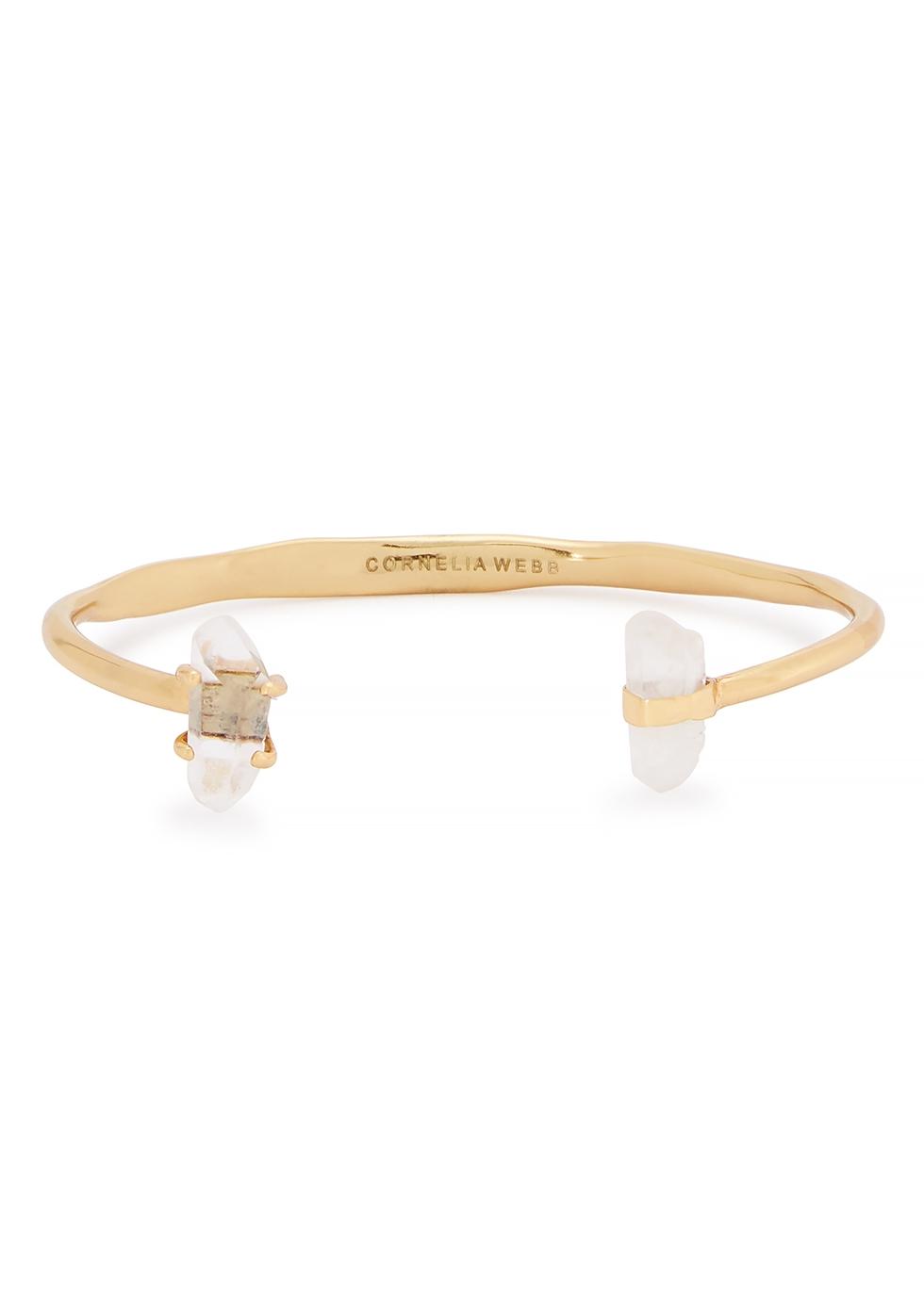 Crystalised gold-plated bracelet