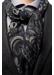 Navy geometric fine wool scarf - Eton