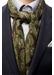 Green blue egyptian print fine wool scarf - Eton