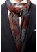 Navy medallion fine wool scarf - Eton