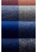 Red & blue checked fine merino wool scarf - Eton