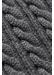 Grey cable knit wool scarf - Eton