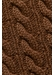 Brown cable knit wool scarf - Eton