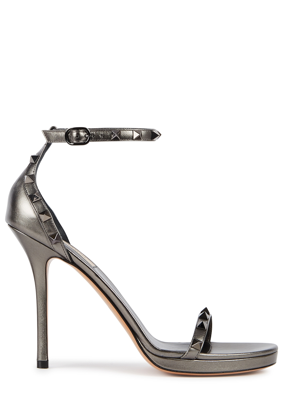 Valentino Garavani Rockstud 100 leather platform sandals