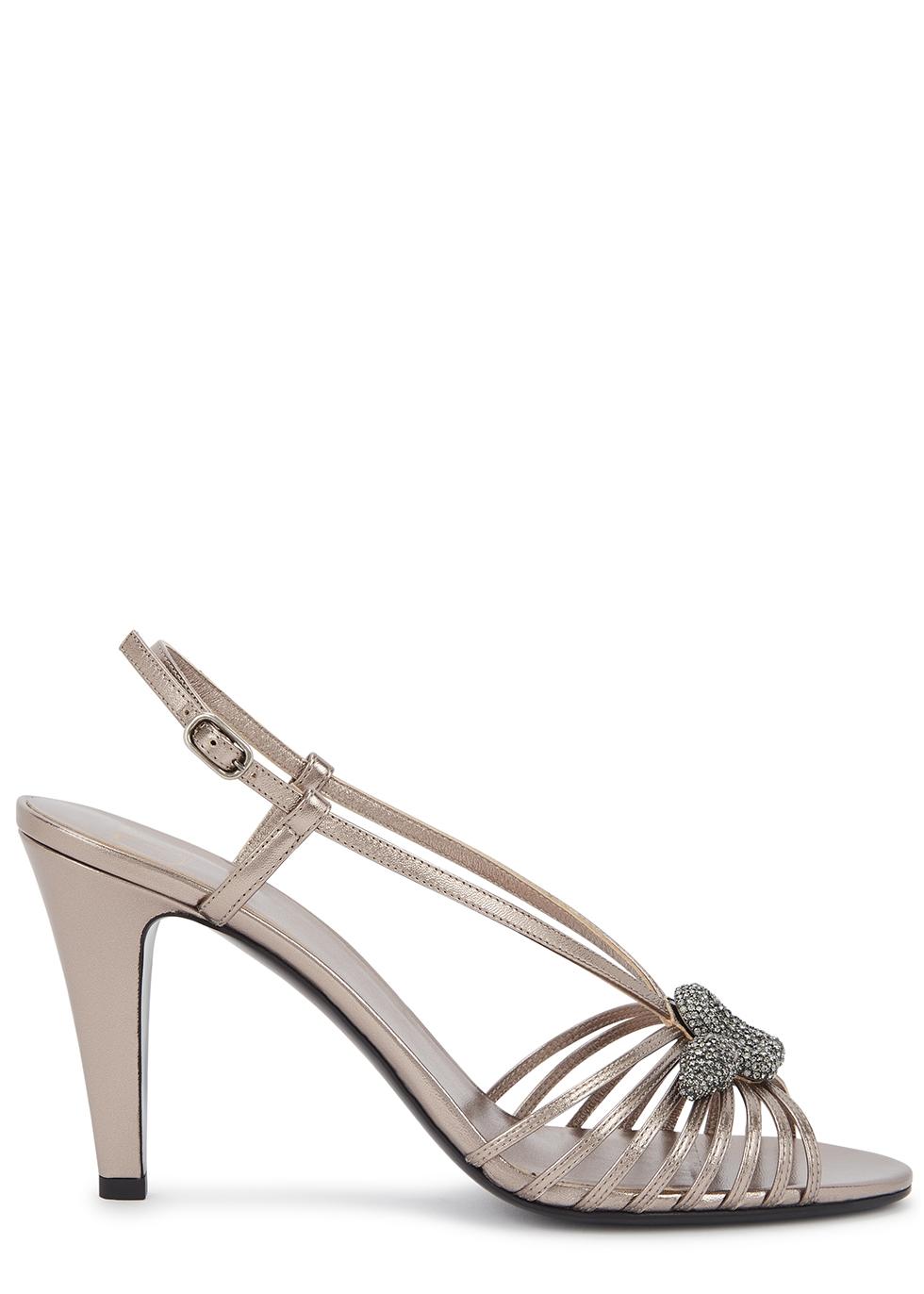 Valentino Garavani Strass Maison 90 leather sandals