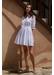 White long sleeve ruffle dress - Paolita